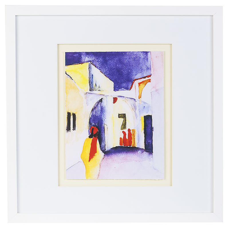 Macke August Blick in Gasse Tunisreise